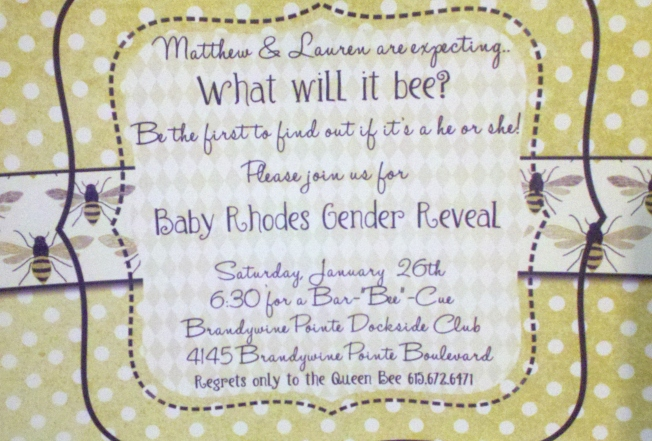 """What will it Bee? "" ~ Gender Reveal Party"